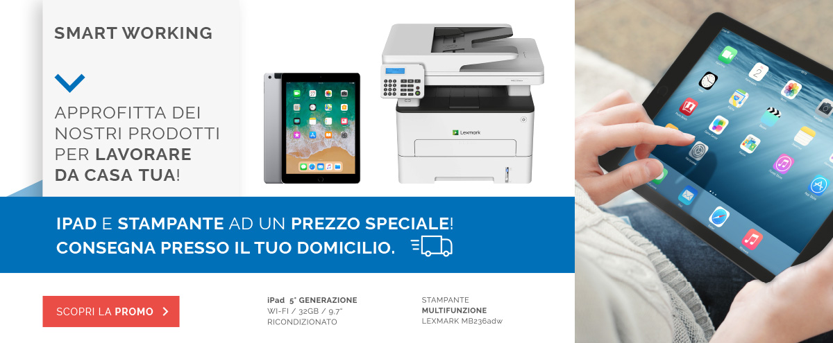 Smart working iPad e stampante Lexmark