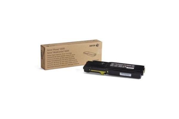 106R02231 cartuccia orig. xerox Phaser 6600 WC 6605 giallo 6 K