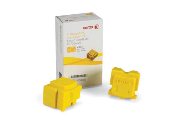 108R00933 kit 2 stick orig. xerox ColorQube 8570 giallo 4,4 K