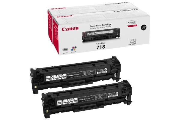2662B005 kit 2 cart.orig. 718BK Canon LBP 7200 nero (2 x 3,4) K