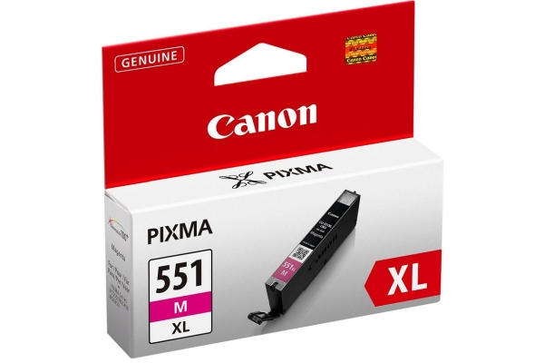 6445B001 cart. orig. canon CLI-551XL M Pixma iP7250 8750 MG5450 6350 MX725 925 magenta 0,7 K