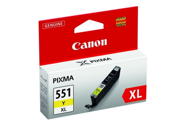 6446B001 cart. orig. canon CLI-551XL Y Pixma iP7250 8750 MG5450 6350 MX725 925 giallo 0,7 K