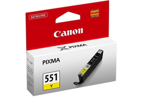 6511B001 cart. orig. canon CLI-551Y Pixma iP7250 8750 MG5450 6350 MX725 925 giallo