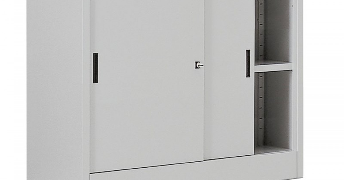 Armadio basso metallico ante scorrevoli armadi metallo for Armadio basso ufficio