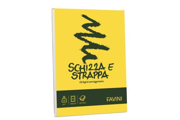 Blocco Schizza & Strappa - A5 - 150 x 210mm - 50gr - 150 fogli - Favini