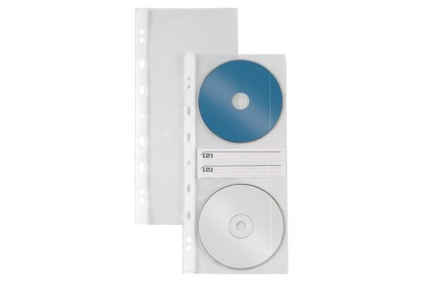 Buste forate Atla CD 2 - 2 tasche - 125x300 mm - Sei Rota - conf. 10 pezzi