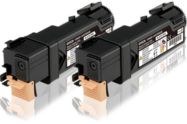 C13S050631 kit 2 toner orig. epson Aculaser C2900N nero (2x3 K)