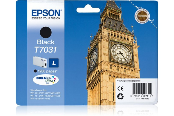"C13T70314010 tanica ""L"" orig. epson WorkForce pro 4015 4025 4515 nero 0,8 K"