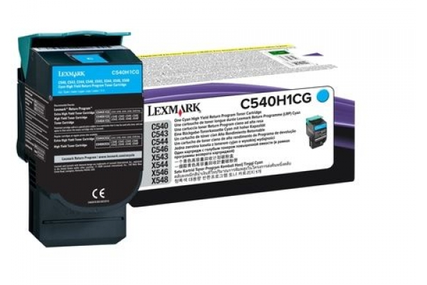 C540H1CG cart.orig. lexmark C540 543 544 return program 2 K ciano