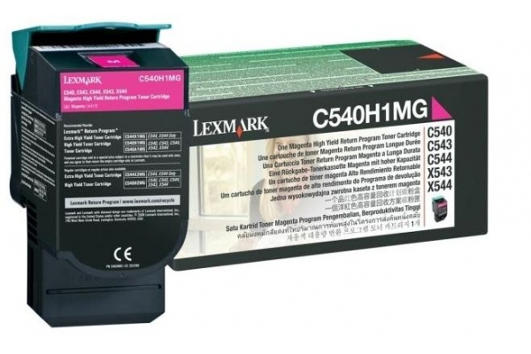 C540H1MG cart.orig. lexmark C540 543 544 return program 2 K magenta