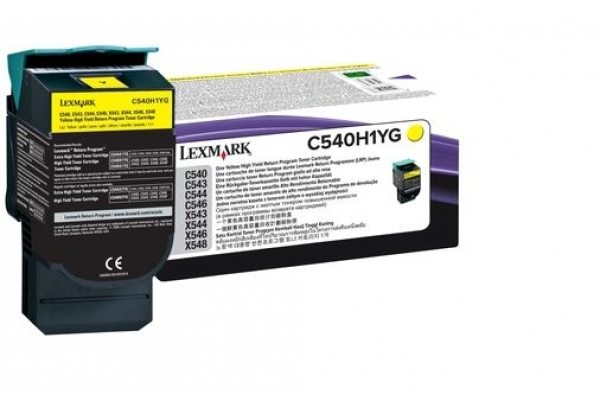 C540H1YG cart.orig. lexmark C540 543 544 return program 2 K giallo