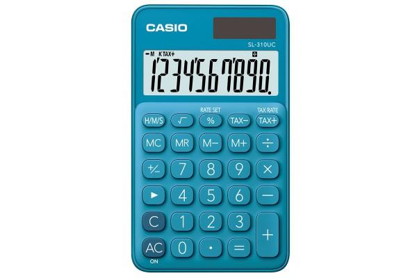 Calcolatrice tascabile SL-310UC - 10 cifre - blu - Casio