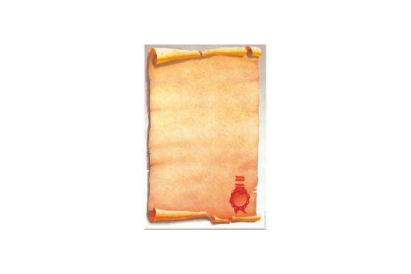 """Carta con stampa """"pergamena"""" - A4 - 80 gr - Decadry - conf. 25 fogli"""