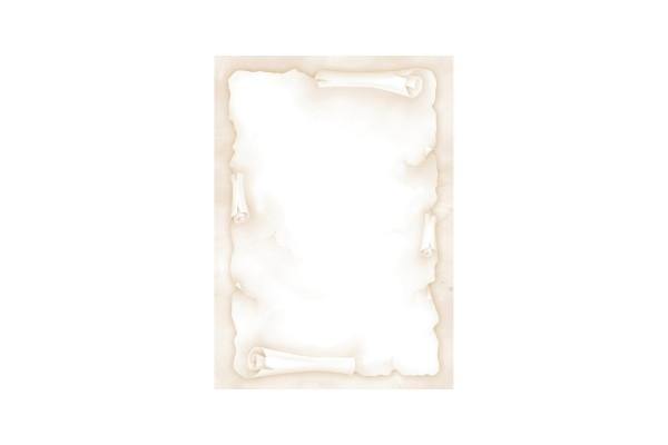 """Carta con stampa """"pergamena"""" - A4 - 90 gr - avorio - Decadry - conf. 20 fogli"""