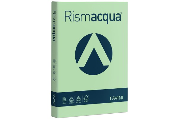 Carta Rismacqua - A4 - 200 gr - verde chiaro 09 - Favini - conf. 125 fogli
