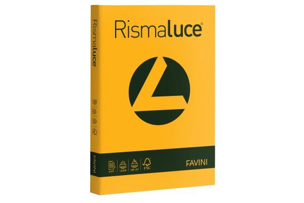 Carta Rismaluce - A4 - 200 gr - giallo oro 52 - Favini - conf. 125 fogli
