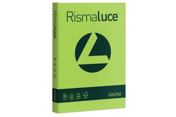 Carta Rismaluce - A4 - 200 gr - verde pistacchio 54 - Favini - conf. 125 fogli