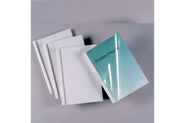 Cartelline termiche Standard - A4 - 150 micron - 35 mm - bianco - GBC - scatola 50 pezzi