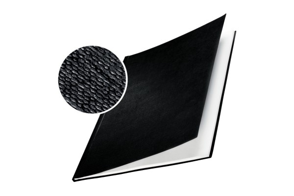 Copertine Impressbind - rigide - 21 mm - finitura lino - blu - Leitz - scatola 10 pezzi