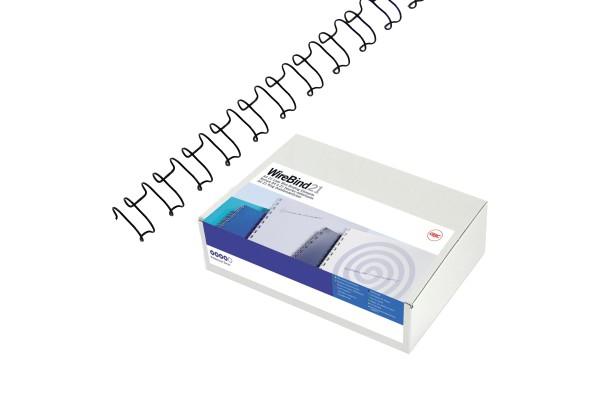 Dorsi spirale IbiWire - metallo - 21 anelli - 10 mm - argento - GBC - scatola 100 pezzi