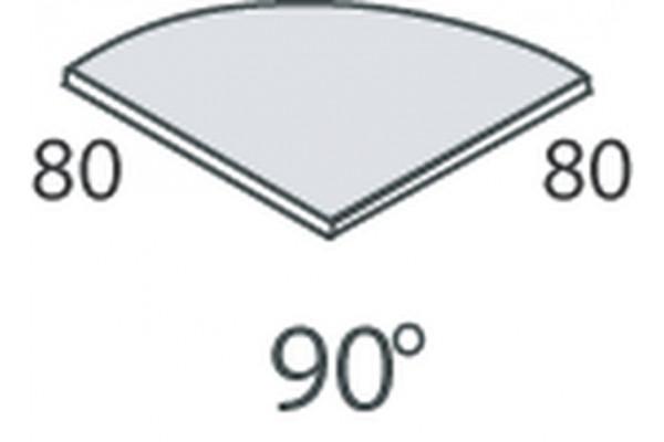 Elemento di giunzione 90° per scrivanie