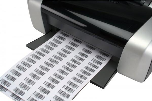 Etichette bianche su foglio A4 per laser con bordino di sicurezza