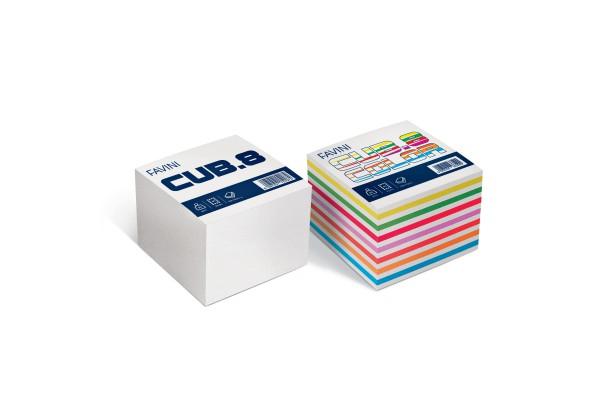Foglietti Cubo - mix colori forti - 95 x 95mm - 80gr - 750 fogli - Favini