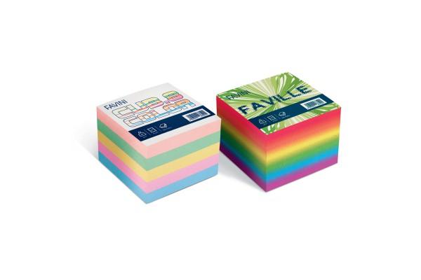 Foglietti Cubo - mix colori soft - 95 x 95mm - 80gr - 750 fogli - Favini