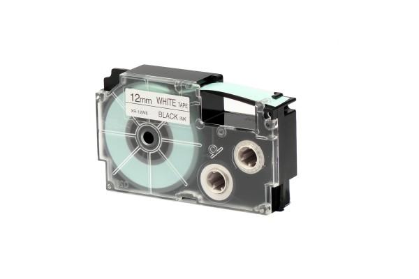 Nastro - 12 mm x 8 mt - nero/bianco - Casio