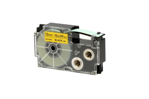 Nastro - 12 mm x 8 mt - nero/giallo - Casio