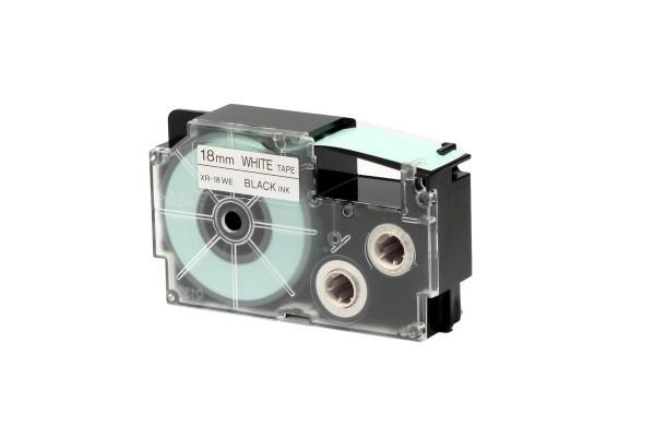 Nastro - 18 mm x 8 mt - nero/bianco - Casio