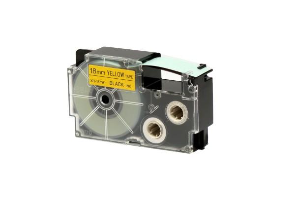 Nastro - 18 mm x 8 mt - nero/giallo - Casio