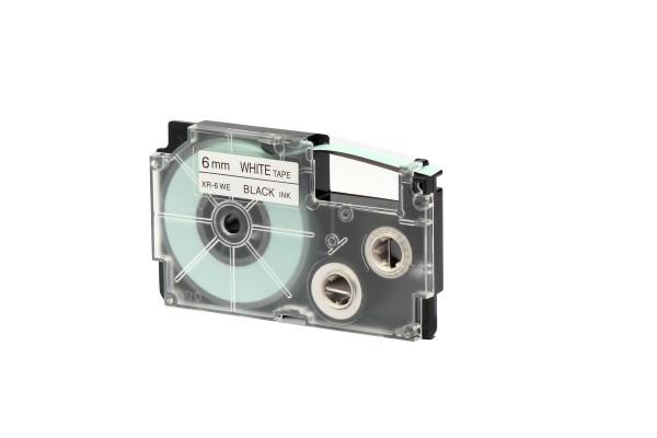 Nastro - 6 mm x 8 mt  - nero/bianco - Casio