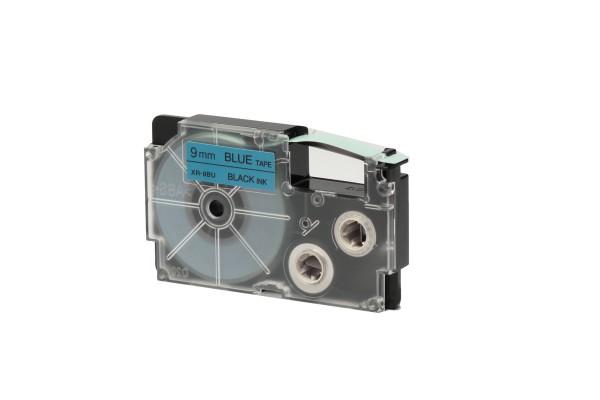 Nastro - 9 mm x 8 mt - nero/blu - Casio