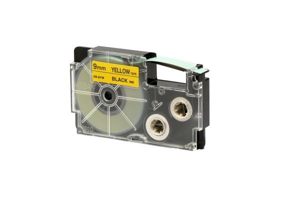Nastro - 9 mm x 8 mt - nero/giallo - Casio