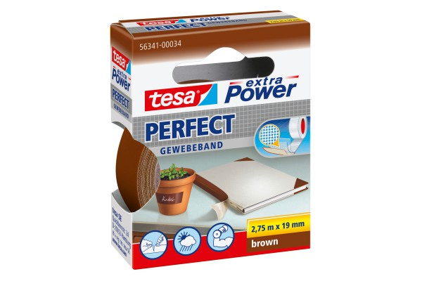 Nastro adesivo telato XP Perfect - 19 mm x 2,7 m - marrone - Tesa®