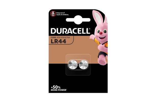 Pile alcaline 1,5V - 150mah (LR44) - Duracell - blister 2 pezzi