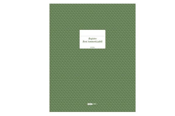 Registro cespiti ammortizzabili - 31 x 24,5cm - 47pg - numerate - Edipro