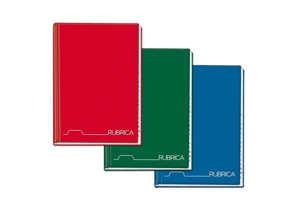 Rubrica cartonato - 1 rigo - A5 - 96 fogli - Blasetti