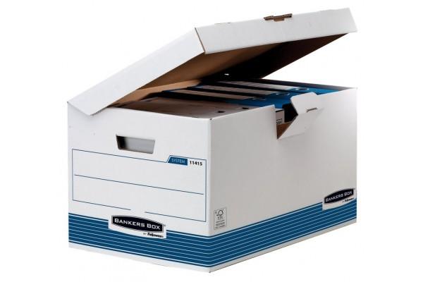 Scatola archivio con coperchio a ribalta System Bankers Box