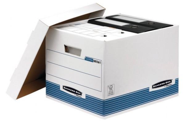 Scatola archivio con coperchio System Bankers Box