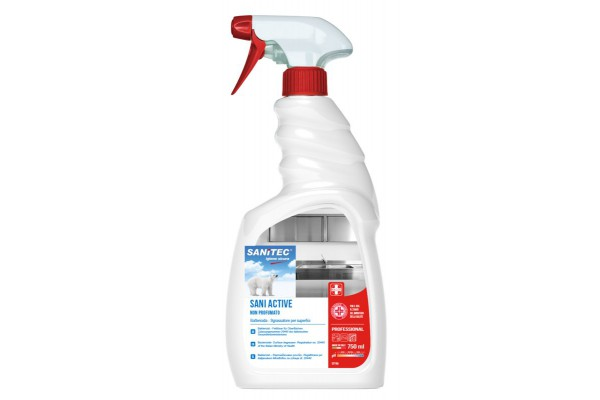 Sanitec Sgrassatore igienizzante con antibatterico Sani Active-flacone 750 ml, 1 pz 0680664