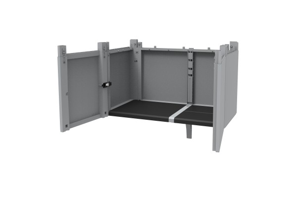 Transforming Extension Kit per armadi Modular - 78x43,6x41,4 cm - PPL - grigio - Terry